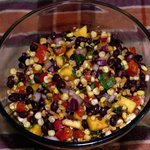 Roasted Corn, Black Bean and Mango Salad