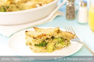 Breakfast Broccoli Bread Pudding