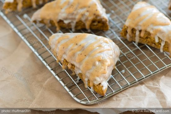 Pumpkin Scones with Two Glaze