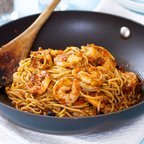 Spaghetti with Shrimp in Spicy Sicilian Sauce