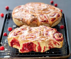 100% Whole Wheat Cranberry Cinnamon Rolls