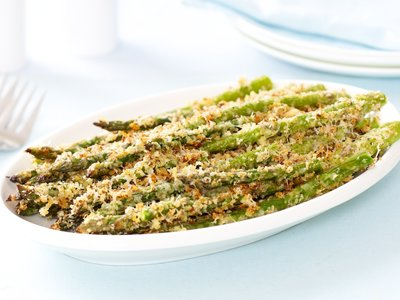 Roasted Parmesan and Panko Asparagus