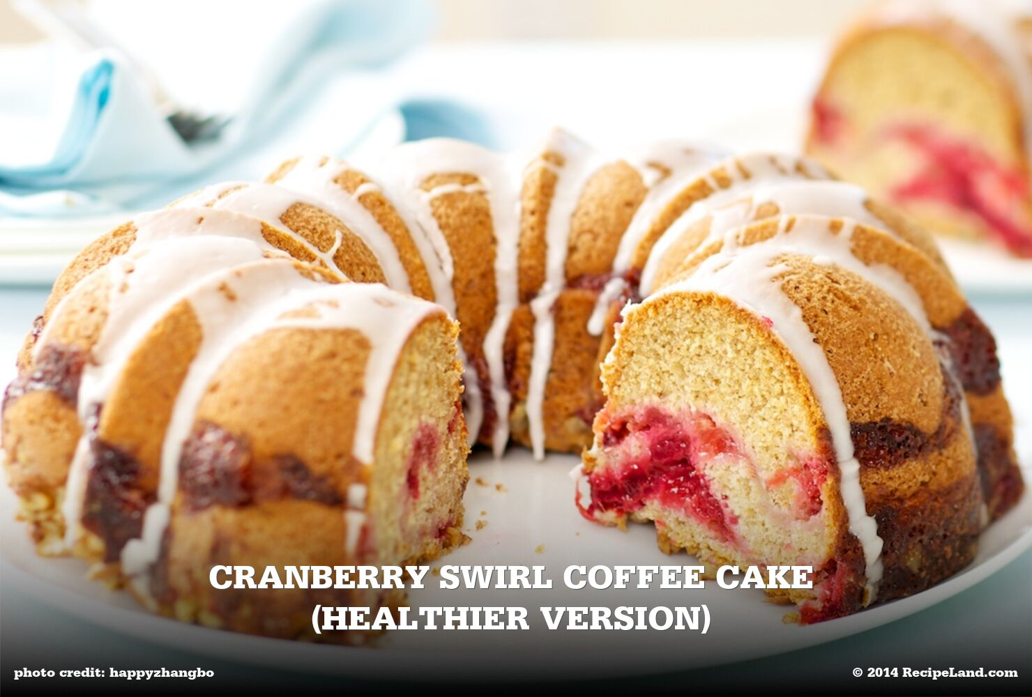 Cranberry Swirl Coffee Cake (Healthier Version)