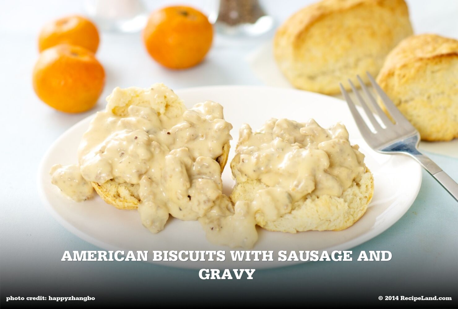 Biscuits with Sausage and Gravy
