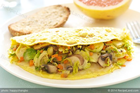 Brussels Sprouts and Mushroom Omelet