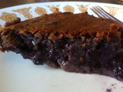 No Crust Blueberry Pie