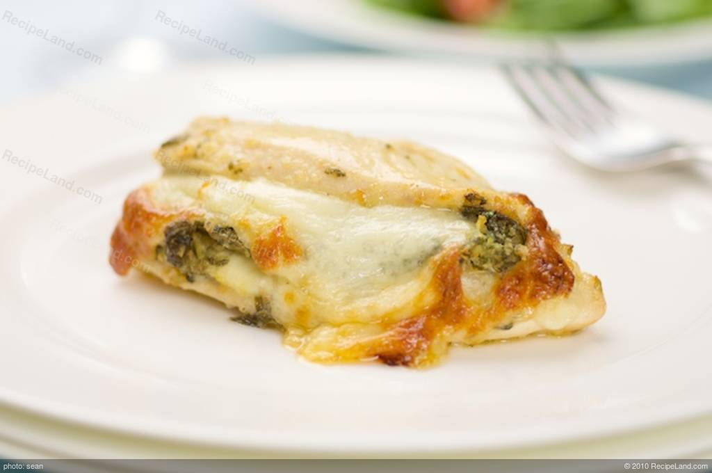 Chicken Breasts Stuffed with Spinach and Provolone recipe