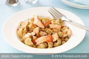 Pasta Shells with Salmon, Tomatoes and Toasted Bread Crumbs