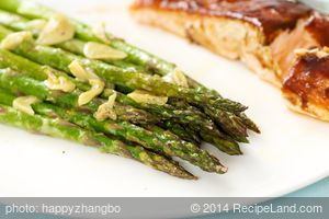 Pictures of Garlicky Roasted Asparagus with Lemon Mustard Dressing