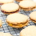 Almond Butter Cookies (Sandwiched with Jam)