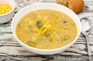 Cheddar-Potato-Broccoli Soup