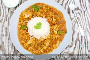 Cauliflower and Red Lentil Curry