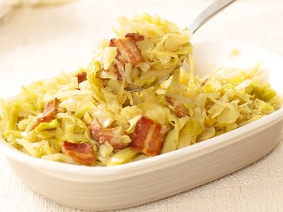 Fried Cabbage and Bacon