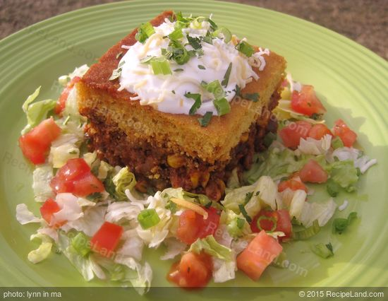 Green Chili Tamale Pie with Cheddar Cornmeal Crust Recipe