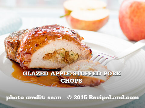 Glazed Apple-Stuffed Pork Chops