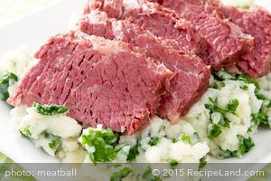 Corn Beef with Colcannon Potatoes