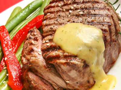 Grilled Herb Mustard Steaks