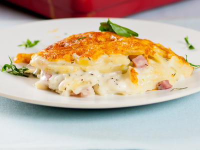 Scalloped Potatoes and Ham Casserole