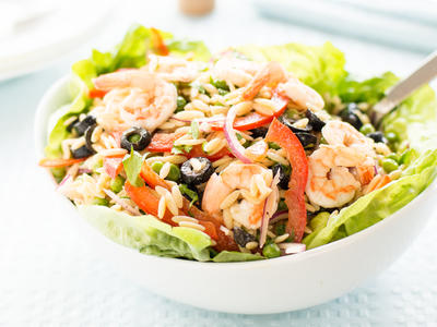 Cold Orzo Salad with Shrimp