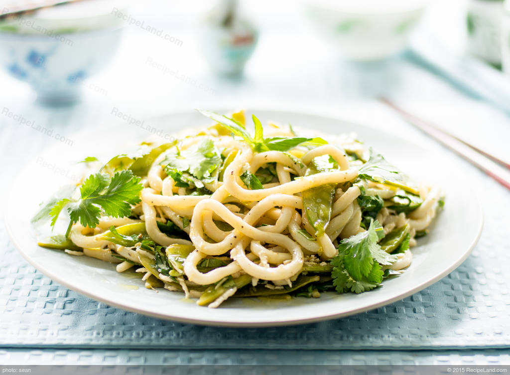 Lemon-Pepper Glazed Udon Noodles with Snow Peas and ...