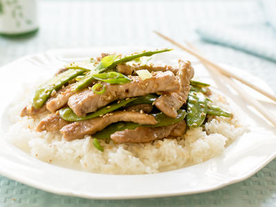 Stir-Fry Pork with Pea Pods