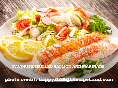 Grilled Salmon and Marinade