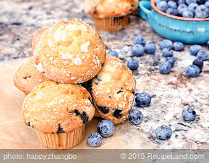 All-American Blueberry Muffins
