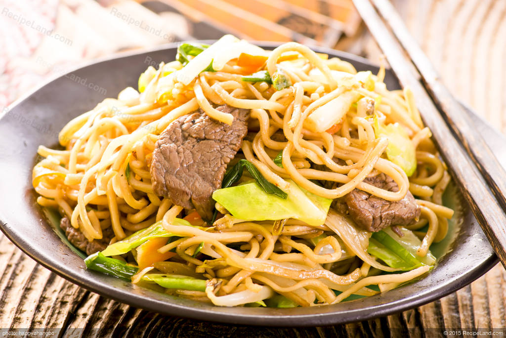 Stir Fry Beef And Bok Choy With Noodles Recipe