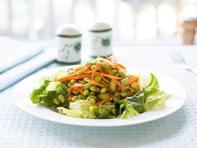 Asian Edamame and Carrot Salad
