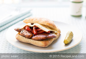 Balsamic Glazed Chicken and Bell Pepper Sandwiches