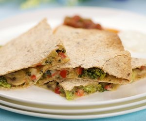 Broccoli and Mushroom Quesadillas