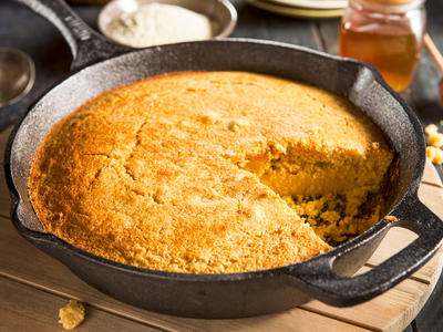 Skillet Honey and Sage Cornbread