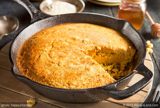 ... corn bread that is loaded with the fragrance from the sage and honey