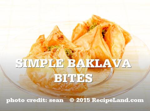 Simple Baklava Bites recipe | RecipeLand.com