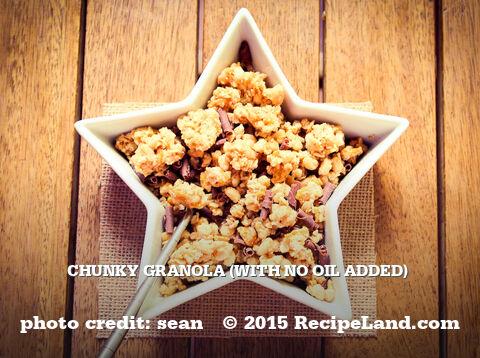 Chunky Granola (With No Oil Added)