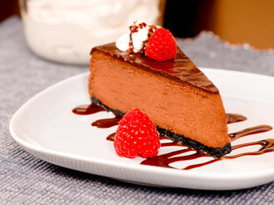 Chocolate Cheesecake with Chocolate Nutmeg Crust
