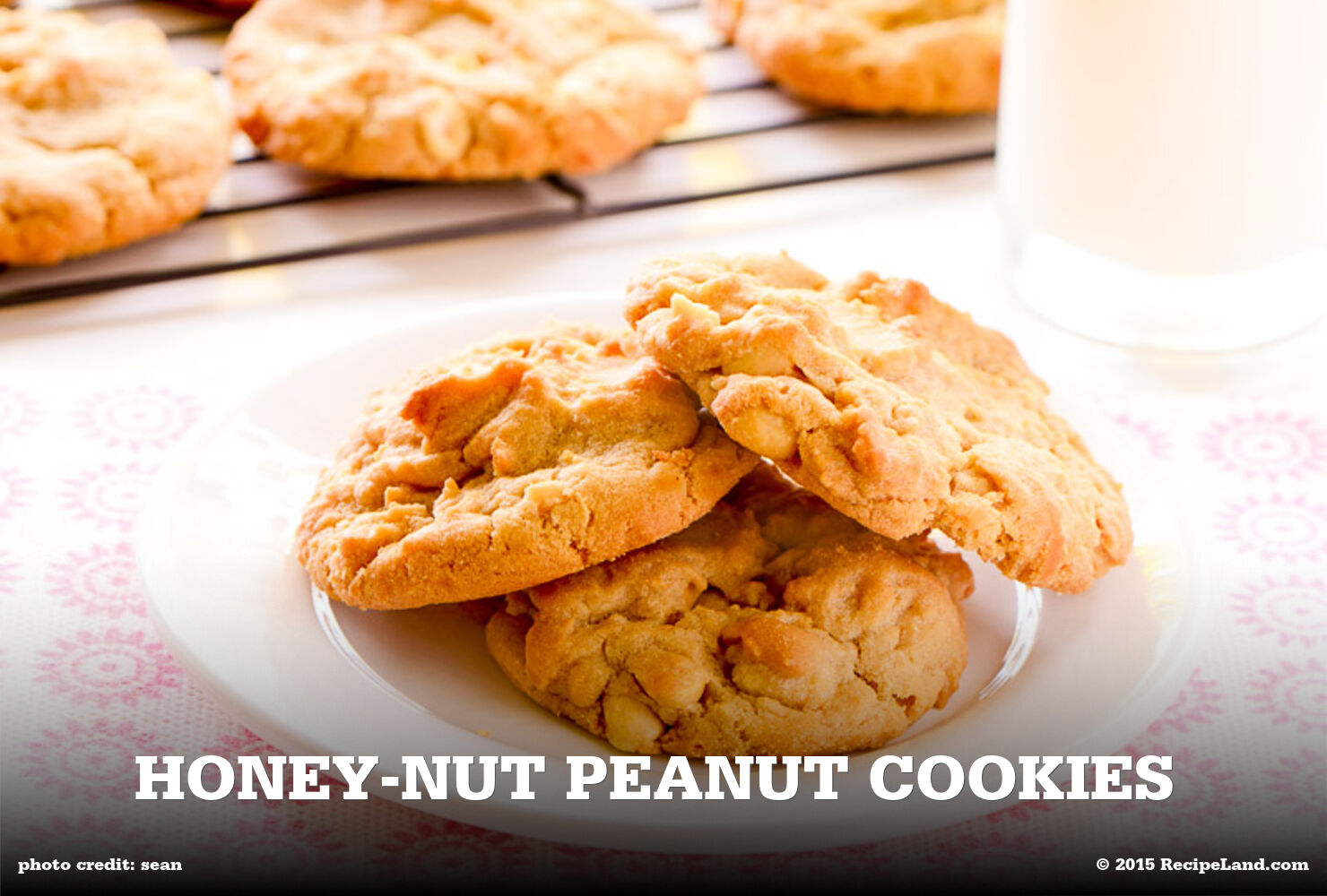 Honey-Nut Peanut Cookies