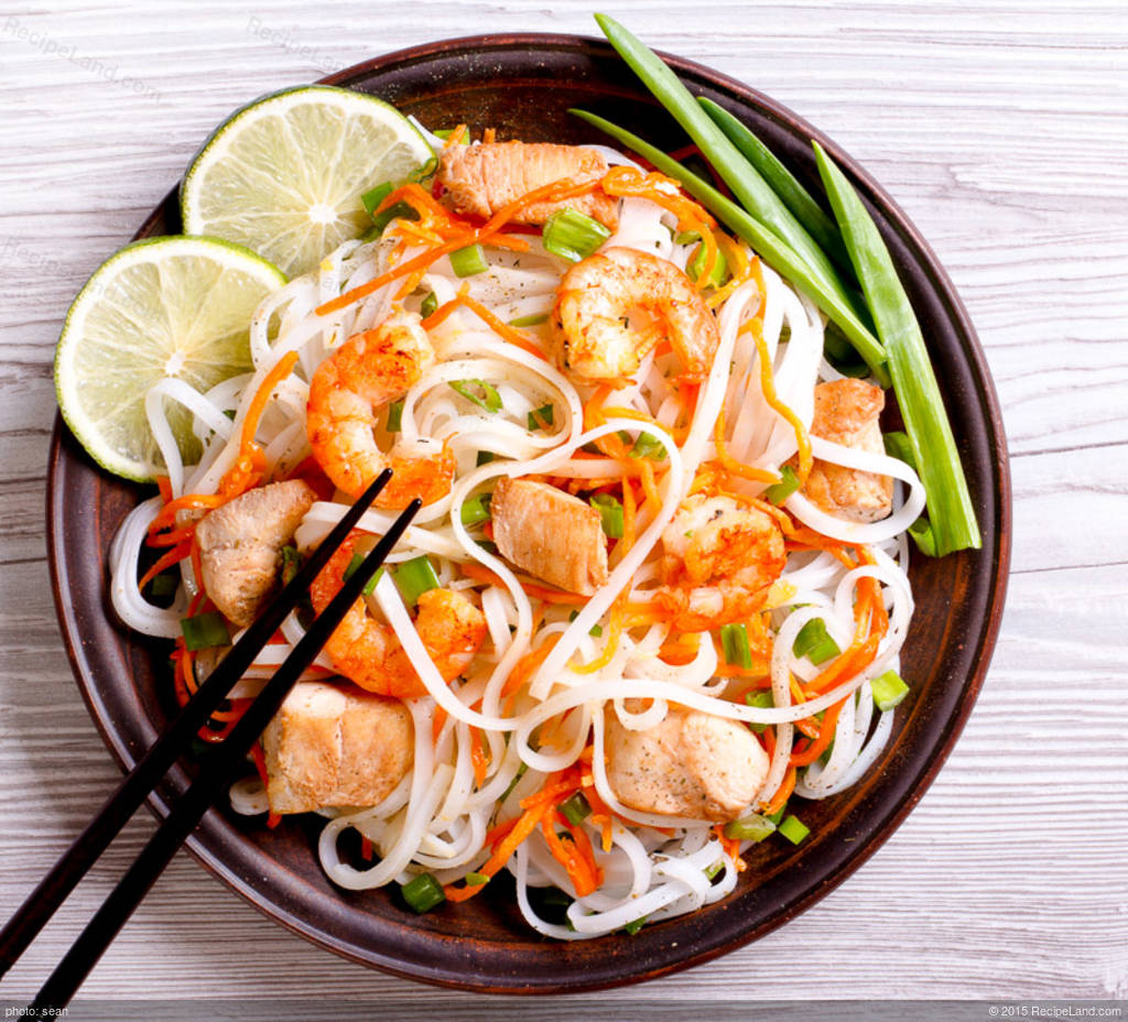Pad Thai Stir Fried Rice Ribbon Noodles Recipe