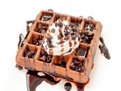 Chocolate or Cocoa Waffles