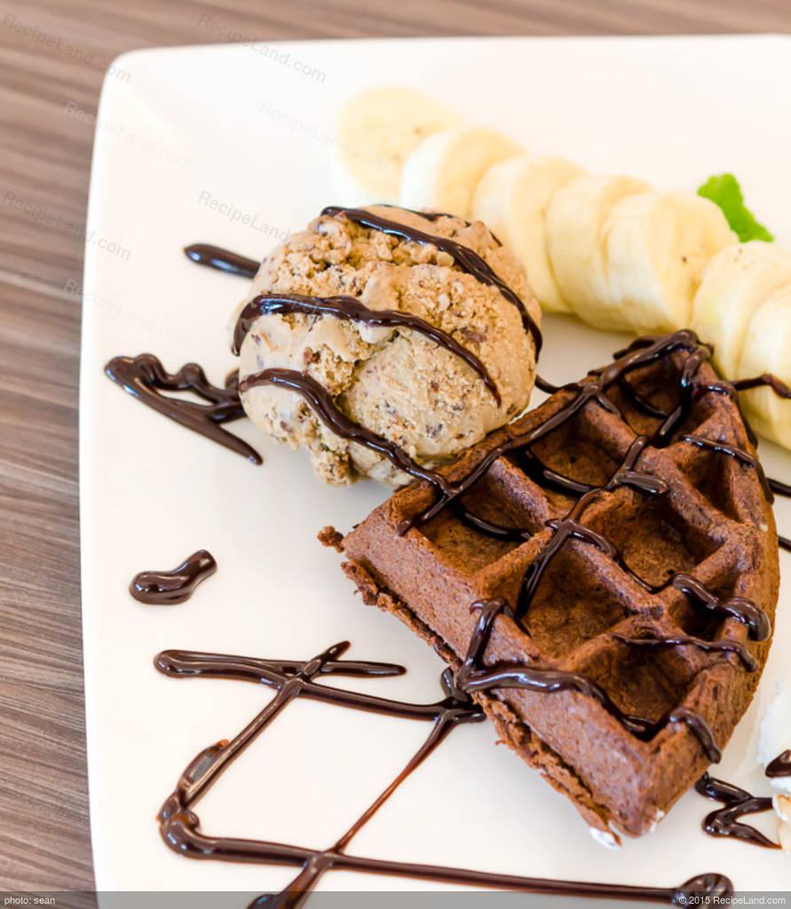 Chocolate Waffles with Ice Cream Recipe