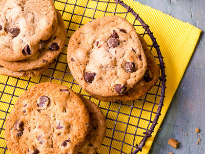 Coral Chocolate Chip Cookies