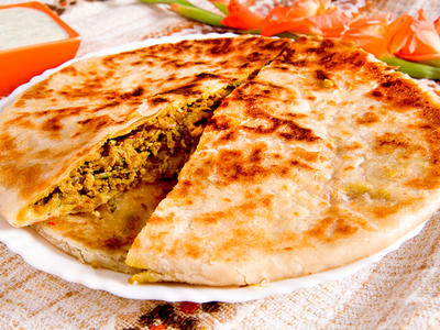 Lemon Rice and Pea Chapatis