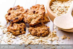 Banana Raisin-Chocolate Chip Oatmeal Cookies