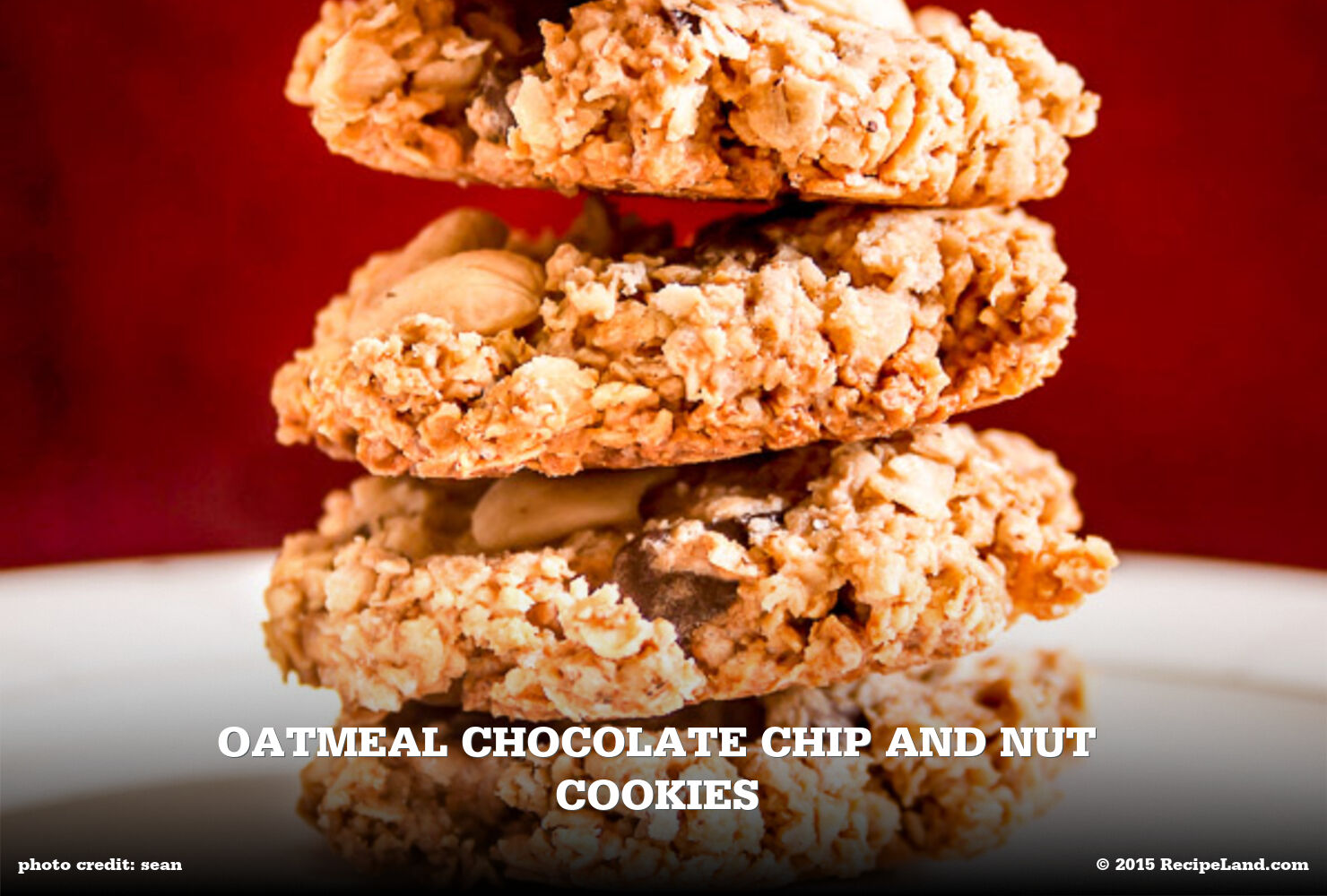 Oatmeal Chocolate Chip and Nut Cookies
