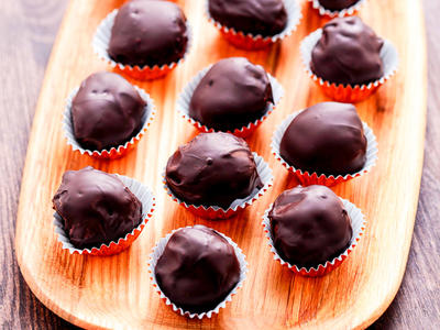 Bittersweet Chocolate Coated Truffles