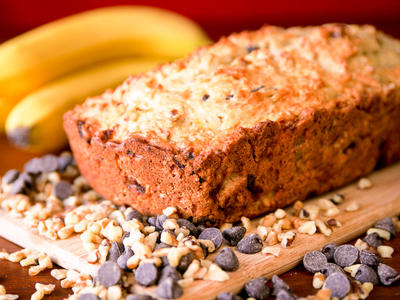 Dad's Banana Nut Chocolate Chip Bread