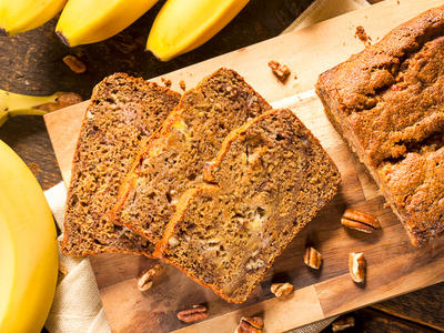 Low Fat Banana Bran Bread