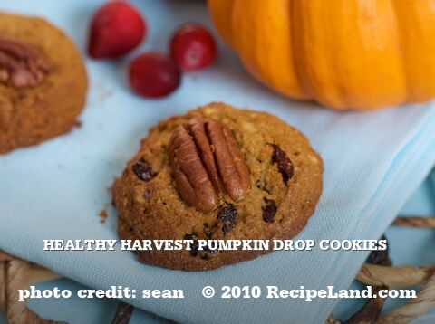 Healthy Harvest Pumpkin Drop Cookies