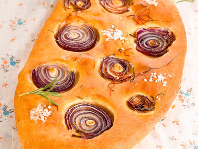 Easy Onion and Herb Focaccia