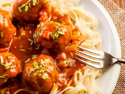 Beef and Sausage Meatballs